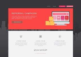 Referral Marketing Content, Business Marketing Kommunikation. vektor