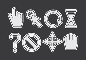 Mus över ikonuppsättning