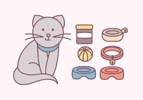Vector Cute Katzen Zubehör