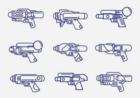 Kinder Watergun Lineart Pack vektor