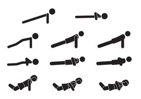 Push-up-Icon-Set vektor