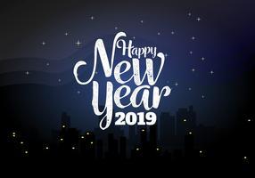 Gott nytt år 2018 Bakgrund Vector Illustration