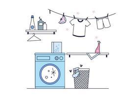Freie Wäscherei Vektor