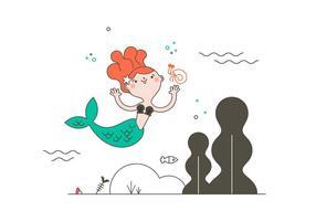 Freie Meerjungfrau Vektor