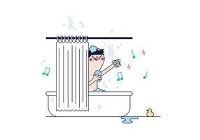 Kostenlose Dusche Vektor