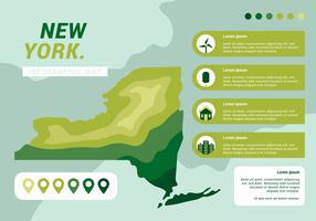 new york infographic map vektor