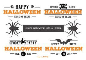 Typografische Halloween-Etiketten-Sammlung