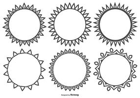 Dekorativ vektor former samling
