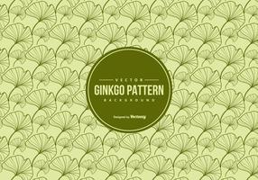 Ginkgo nahtlose Vektor-Muster vektor