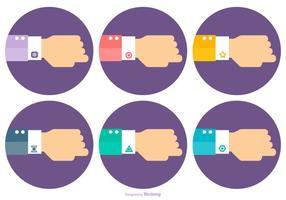 Flache Stil Hand mit Manschettenknöpfen vektor
