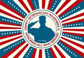 Glückliche Veteranen Tag Illustration