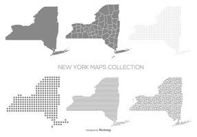 New York Texturierte Karten Sammlung