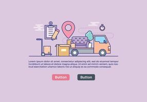 gratis flyttbar service banner vektor