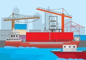 Hafen Hintergrund Vektor