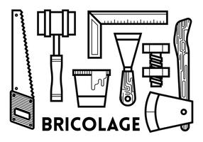 Bricolage-Vektor-Icons vektor
