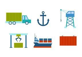 Gratis utestående hamnvektorer vektor