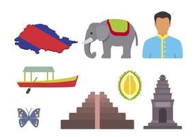 Flache Kambodscha-Vektoren vektor