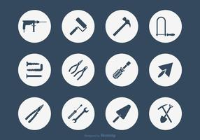 Bricolage Werkzeuge Vektor Icon-Set