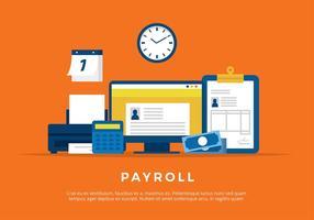 Payroll Illustration Kostenloser Vektor