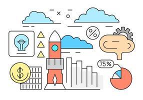 Kostenlose Startup-Vektor-Illustration vektor