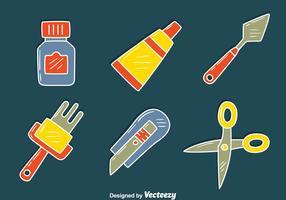 bricolage diy verktygsvektor vektor
