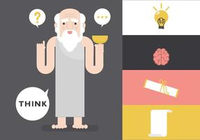 Sokrates Idee Vektor Zeichen
