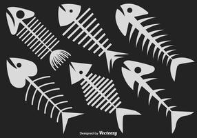 Vector Set von sechs Fishbone