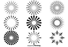 Vektor fyrverkeri ikoner uppsättning