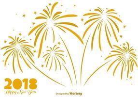 Elegante Hintergrund Des Goldenen Feuerwerks - Vector Elements