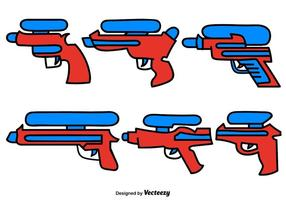 Vector Set Gekritzel Wasser Pistole Farbe Icons