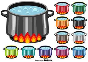 Kochendes Wasser Vektor Icons
