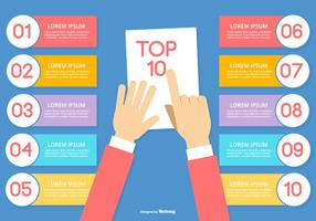 Die 10 wichtigsten Infografik-Illustrationen vektor