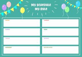 Mein Zeitplan Meine Regel Free Vector