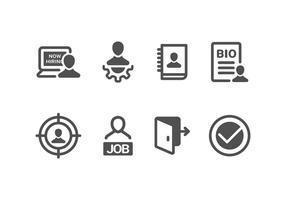 Nu Hiring & Recruitment Set Icons vektor