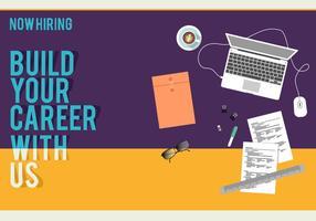 Job-Anzeige-Plakat-freier Vektor