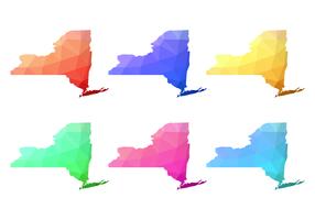 lowpoly new york map vektor