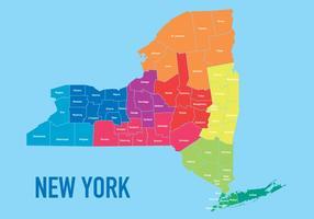 Karte von New York vektor