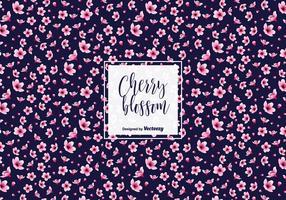 Pink Plum Blossom Vector Hintergrund