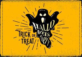 Gratis Vintage Halloween Ghost Vector Illustration