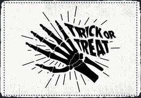 Free Scary Halloween Skelett Hand Vektor