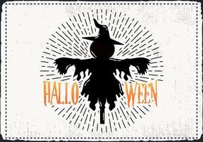 Gratis Scary Halloween Scarecrow Vector