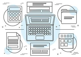 Kostenlose lineare Vektor-Icons und Elemente vektor