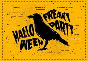 Kostenlose Scary Halloween Crow Vector