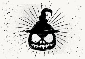 Freier beängstigender Halloween-Kürbis-Vektor