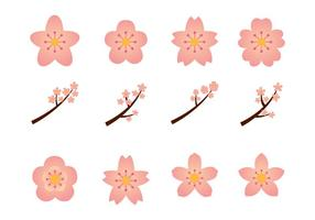 Blumenblüten-Grafik-Set vektor