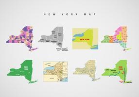 New York karta vektor