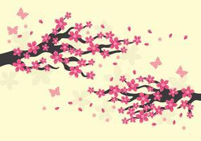 Pflaumenblüten-Illustration