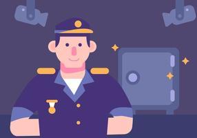 Geldschrank und Cop Vector