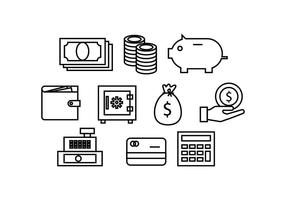 Kostenlose Finance Line Icon Vector