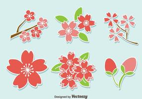 Pflaumenblüten-Blumen-Vektor
